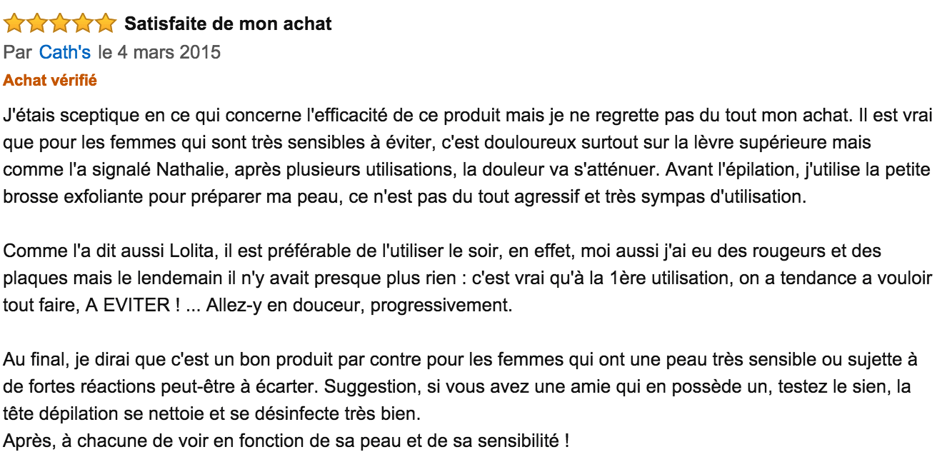 commentaire braun face 831