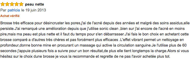 commentaire Silk'n Sonic Clean
