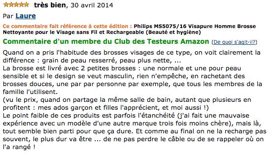 commentaire Philips MS5075/16 Visapure Homme